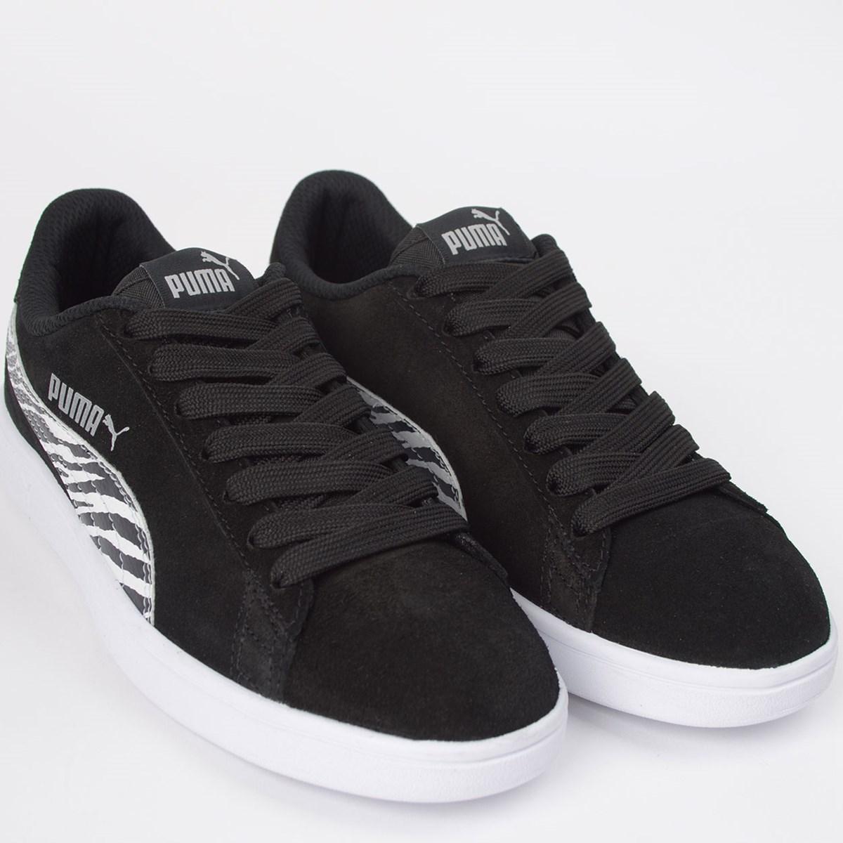 Tênis Puma Smash WNS BDP Black White 36863002