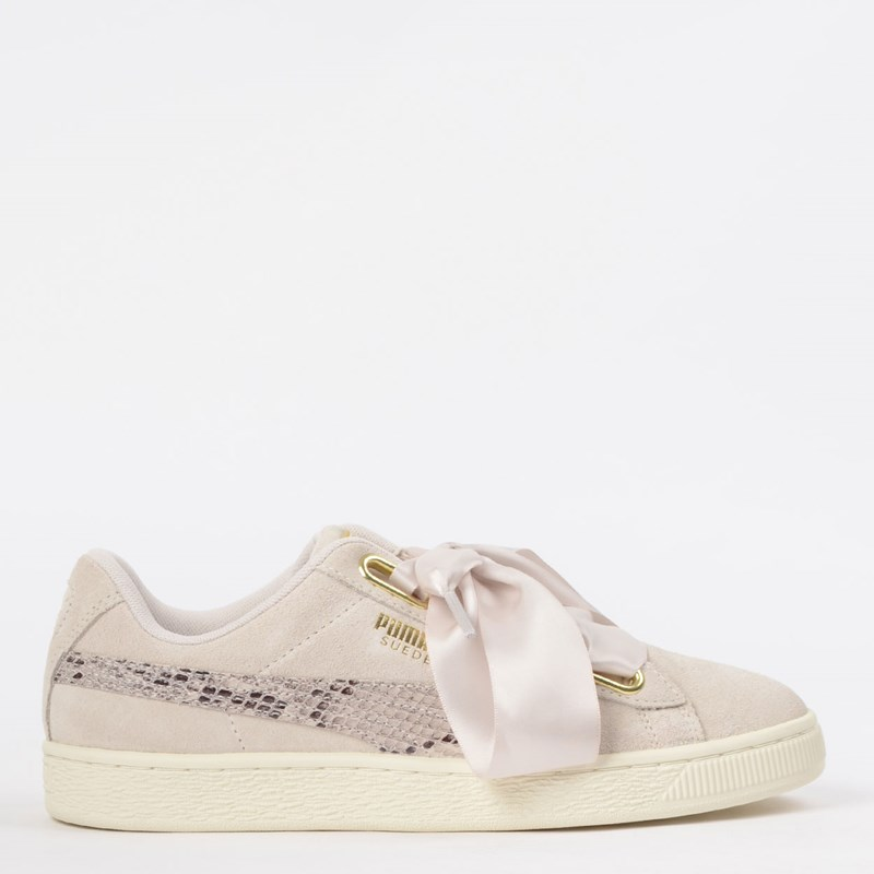 Tênis Puma Suede Heart Snake Lux Wn s Pastel Ouro 36994202