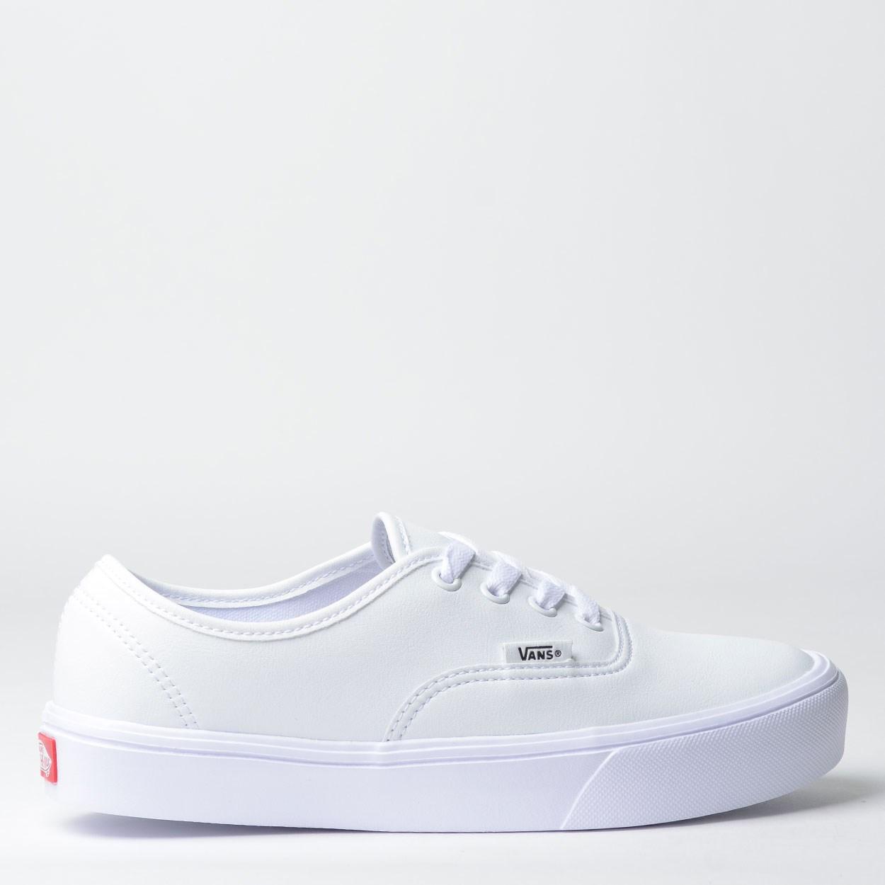 tênis vans authentic lite classic tumble true white