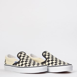 Tênis Vans Classic Slip On Black White Checkerboard VN000EYEBWW