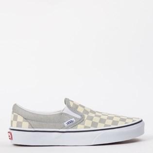Tênis Vans Classic Slip On Checkerboard Silver True White VN0A4U38WS3