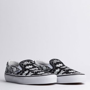Tênis Vans Classic Slip On Forgotten Bones Black True White VN0A4BV3V8V