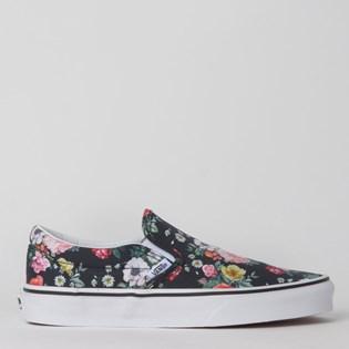 Tênis Vans Classic Slip-On Garden Floral Black True White VN0A4BV3V8X