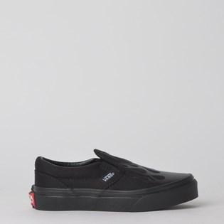 Tênis Vans Classic Slip-On Glossy Flame Black Black VN0A4BUTV4E