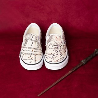 Tênis Vans Classic Slip-On Harry Potter Marauders Map Classic White VN0A4BV3V3CP