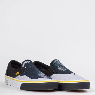 Tênis Vans Classic Slip On National Geographic Then Now Glacier VN0A4U38WT3