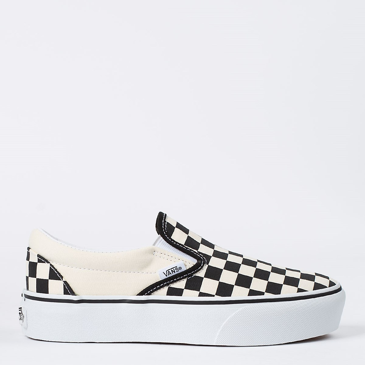 Tênis Vans Classic Slip On Platform Black White Checkerboard VN00018EBWW