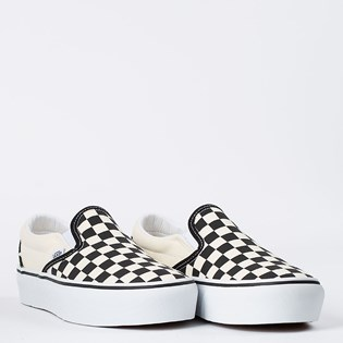 Tênis Vans Classic Slip On Platform Black White Checkerboard VNB0018EBWWP