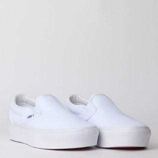 Tênis Vans Classic Slip On Platform True White VN0A3JEZW00