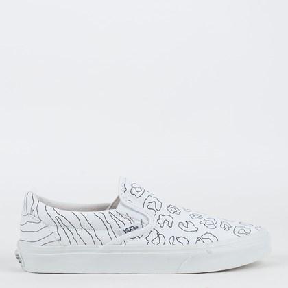Tênis Vans Classic Slip On U Paint Leopard Zebra VN0A33TB9I9