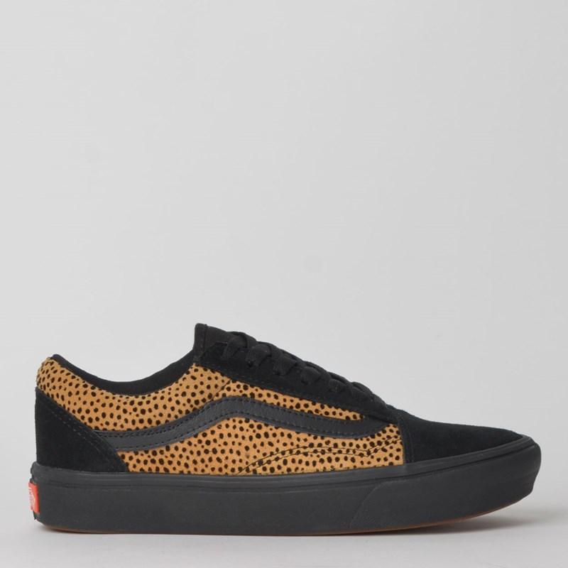 Tênis Vans Comfycush Old Skool Tiny Cheetah Black VN0A3WMAVWS