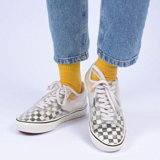 Tênis Vans Comfycush Slip Skool Checkerboard Black White VN0A4P3E5GX