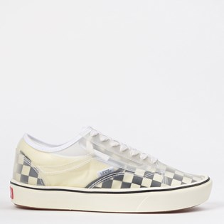 Tênis Vans Comfycush Slip Skool Checkerboard Black White VN0A4P3E5GX