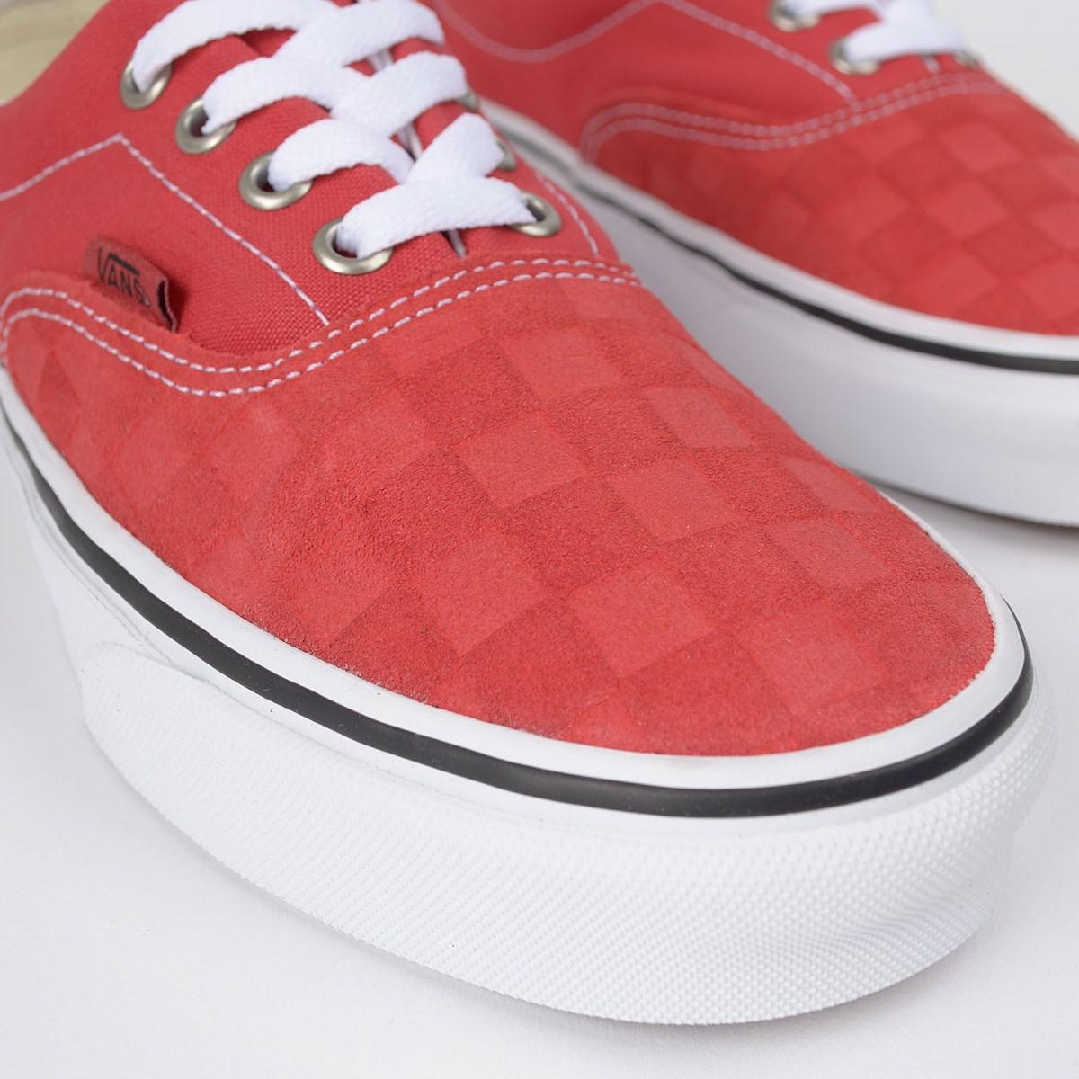 Tênis Vans Era Deboss Checkerboard Pompeian Red VN0A4U39WJ2