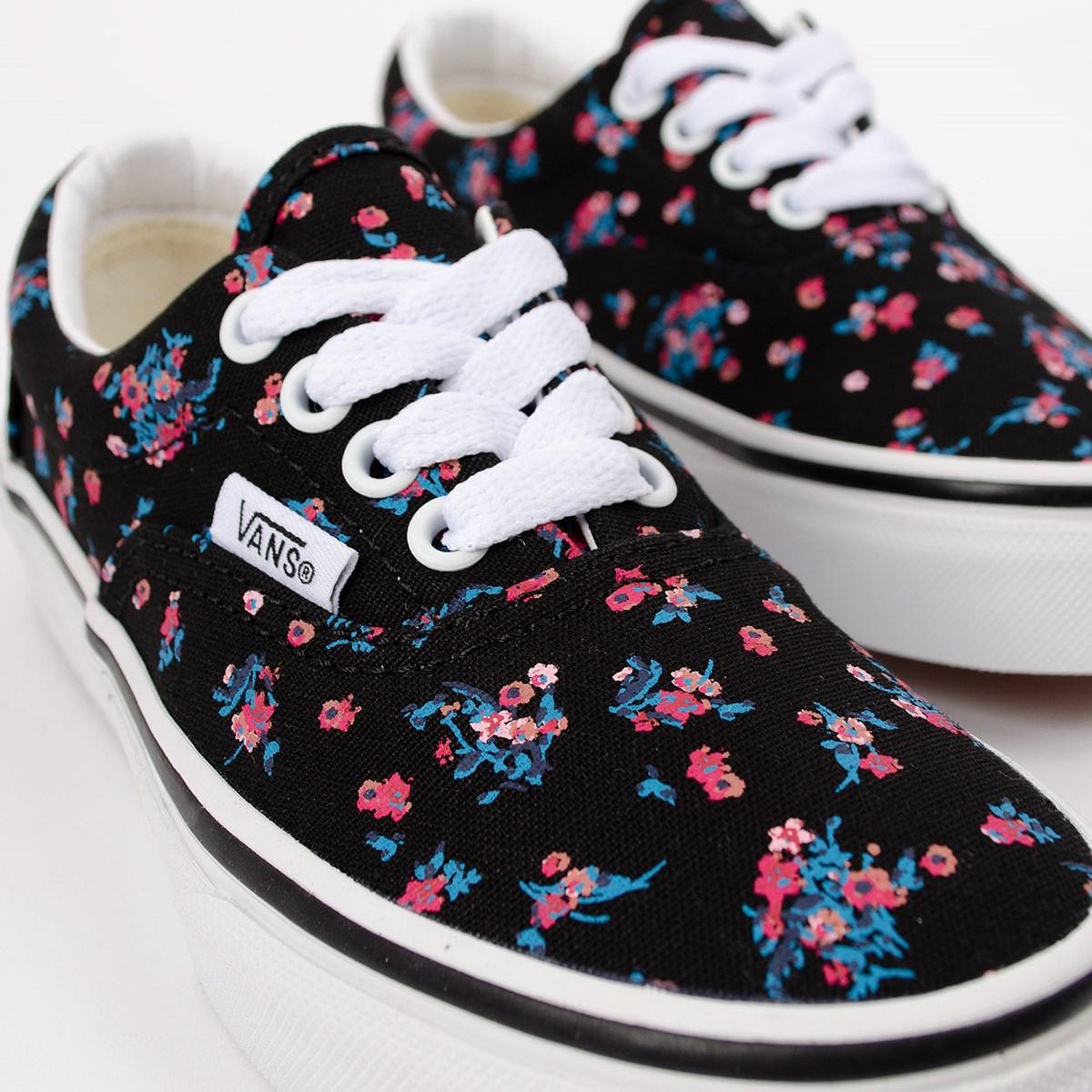 Tênis Vans Era Ditsy Floral Kids Black True White VN0A38H88KI