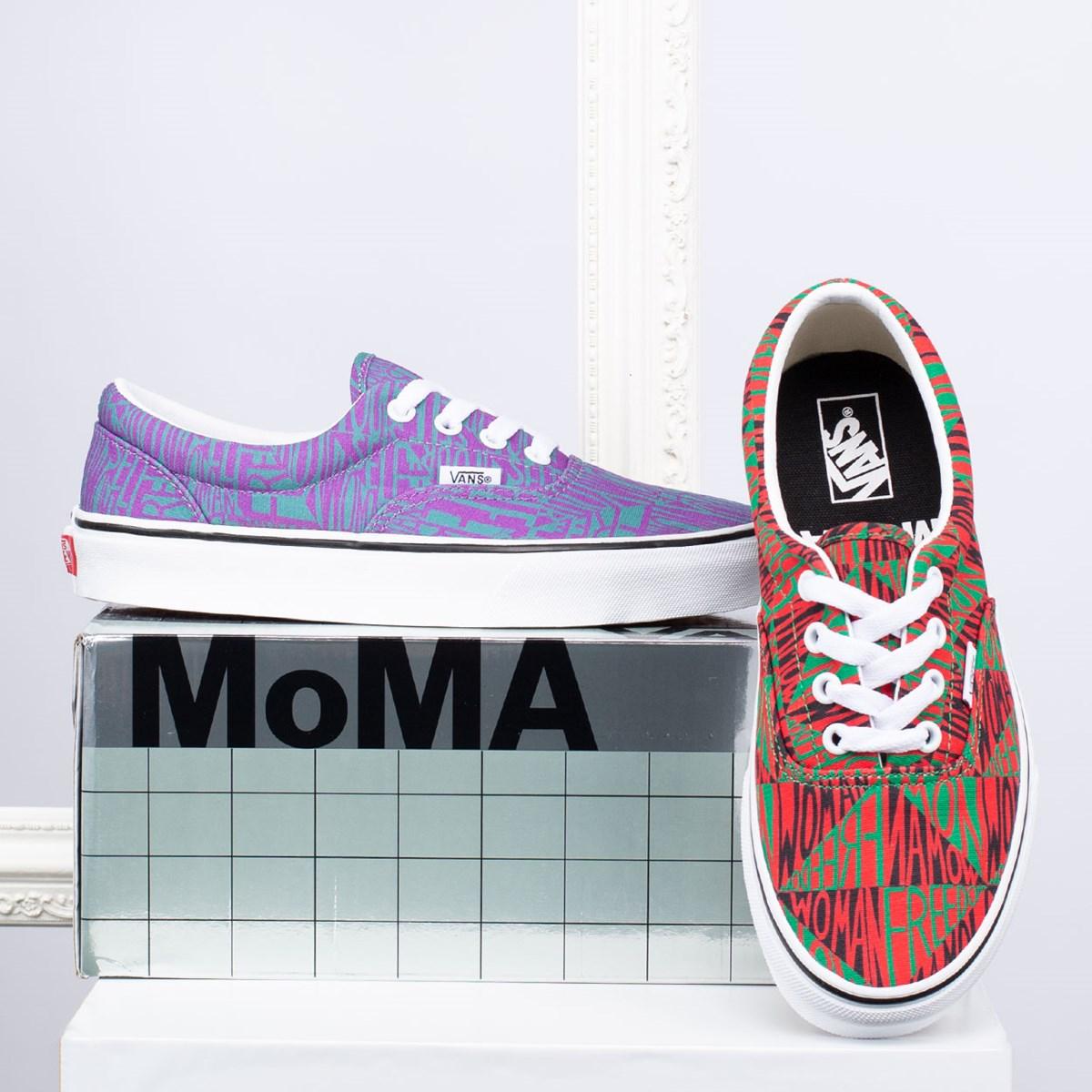 Tênis Vans Era MoMA Faith Ringgold True White VN0A4BV41UC