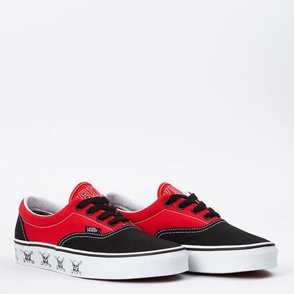 Tênis Vans Era New Varsity Black High Risk Red VN0A54F14G0