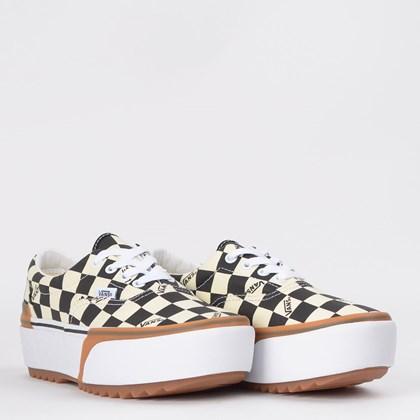 Tênis Vans Era Stacked Checkerboard Multi True White VN0A4BTOVLV