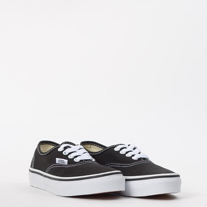 Tênis Vans Kids Authentic Black True White VN000WWX6BT