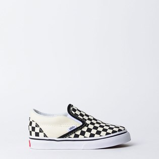 Tênis Vans Kids Classic Slip On Black White Checkerboard VN000EX8BWW