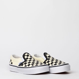 Tênis Vans Kids Classic Slip On Checkerboard Black White VN000ZBUEO1