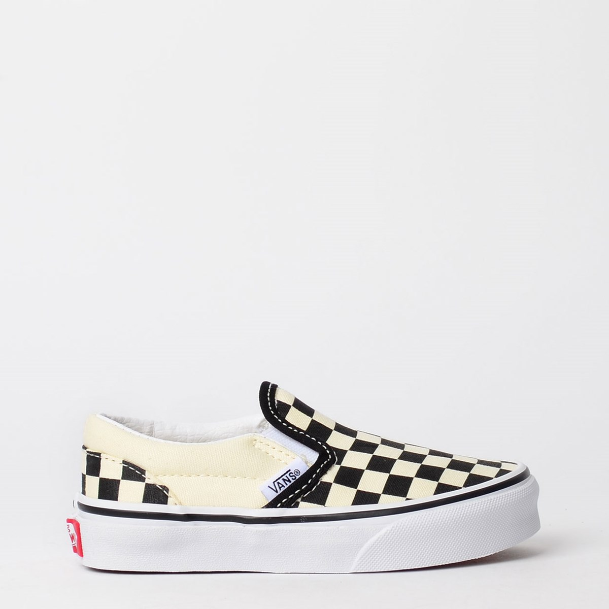 Tênis Vans Kids Classic Slip On Checkerboard Black White VN000ZBUEO1