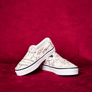 Tênis Vans Kids Classic Slip-On Harry Potter Marauders Map Classic White VN0A4BUTV3CP