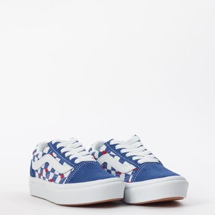 Tênis Vans Kids Old Skool Autism Awareness Comfycush Heart True Blue VN0A4U1QWI4