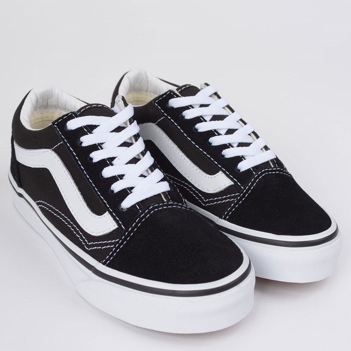 Tênis Vans Kids Old Skool Black True White VN000W9T6BT