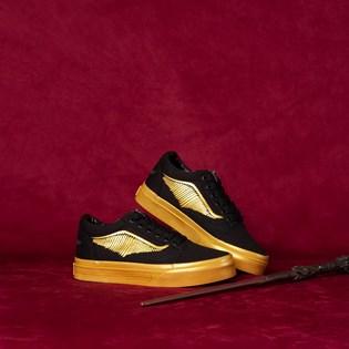 Tênis Vans Kids Old Skool Harry Potter Golden Snitch Plack VN0A4BUUV3K