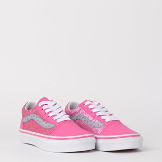Tênis Vans Kids Old Skool Mermaid Scales Carmine Rose True White VN0A38HBVJ2P