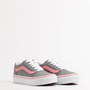 Tênis Vans Kids Old Skool Pop Frost Gray Pink Icing VN0A4BUUWL9