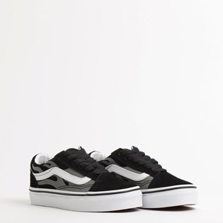Tênis Vans Kids Old Skool Suede Flame Black True White VN0A4BUUWKJ
