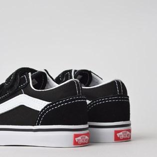 Tênis Vans Kids Old Skool Toddler Black White VN-0D3YBLK