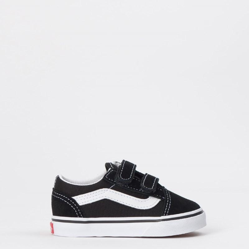 Tênis Vans Kids Old Skool Toddler Black White VN000D3YBLK