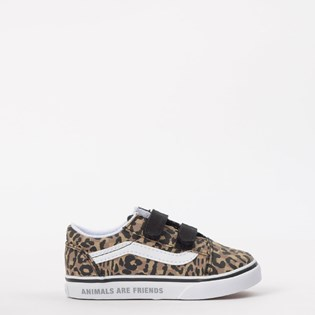 Tênis Vans Kids Old Skool V Animal Checkerboard Leopard Black VN0A38JNWKA