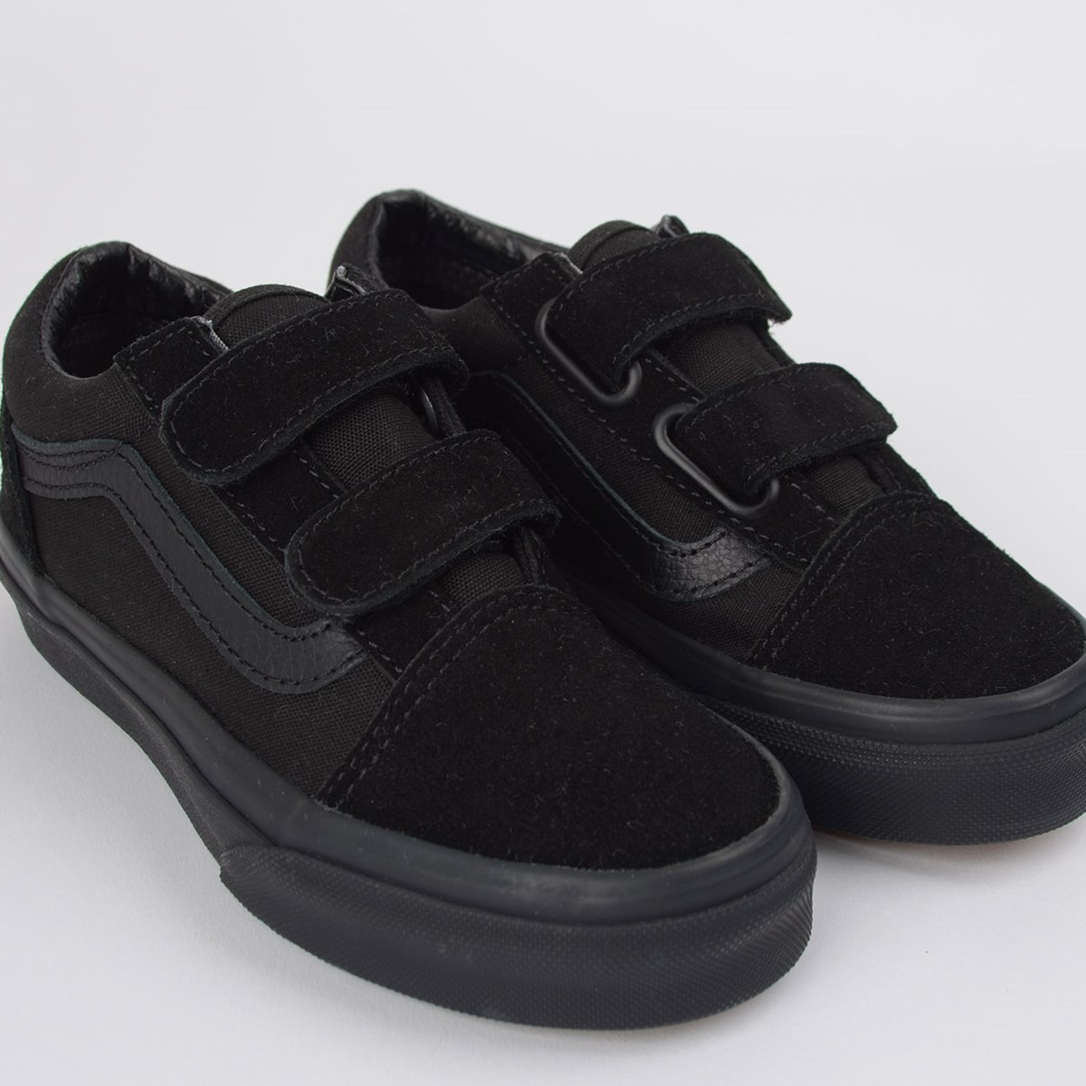 Tênis Vans Kids Old Skool V Black Black VN000VHEENR