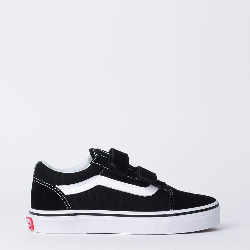 Tênis Vans Kids Old Skool V Black True White VN000VHE6BTP
