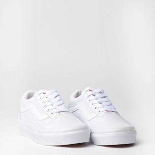 Tênis Vans Kids Old Skool V White Giraffe True White Strawberry VN0A38HBVIVP