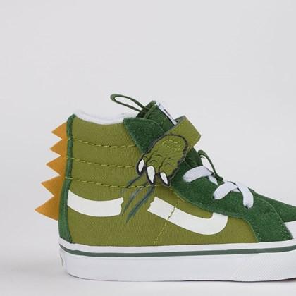 Tênis Vans Kids Sk8 Hi Dino Reissue 138 V Calla Green VN0A4TZLWIX