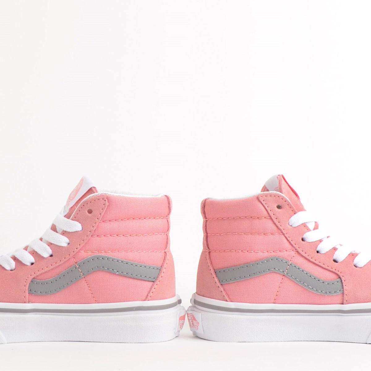 Tênis Vans Kids Sk8 Hi Pop Pink Icing Frost Gray VN0A4BUWXWE