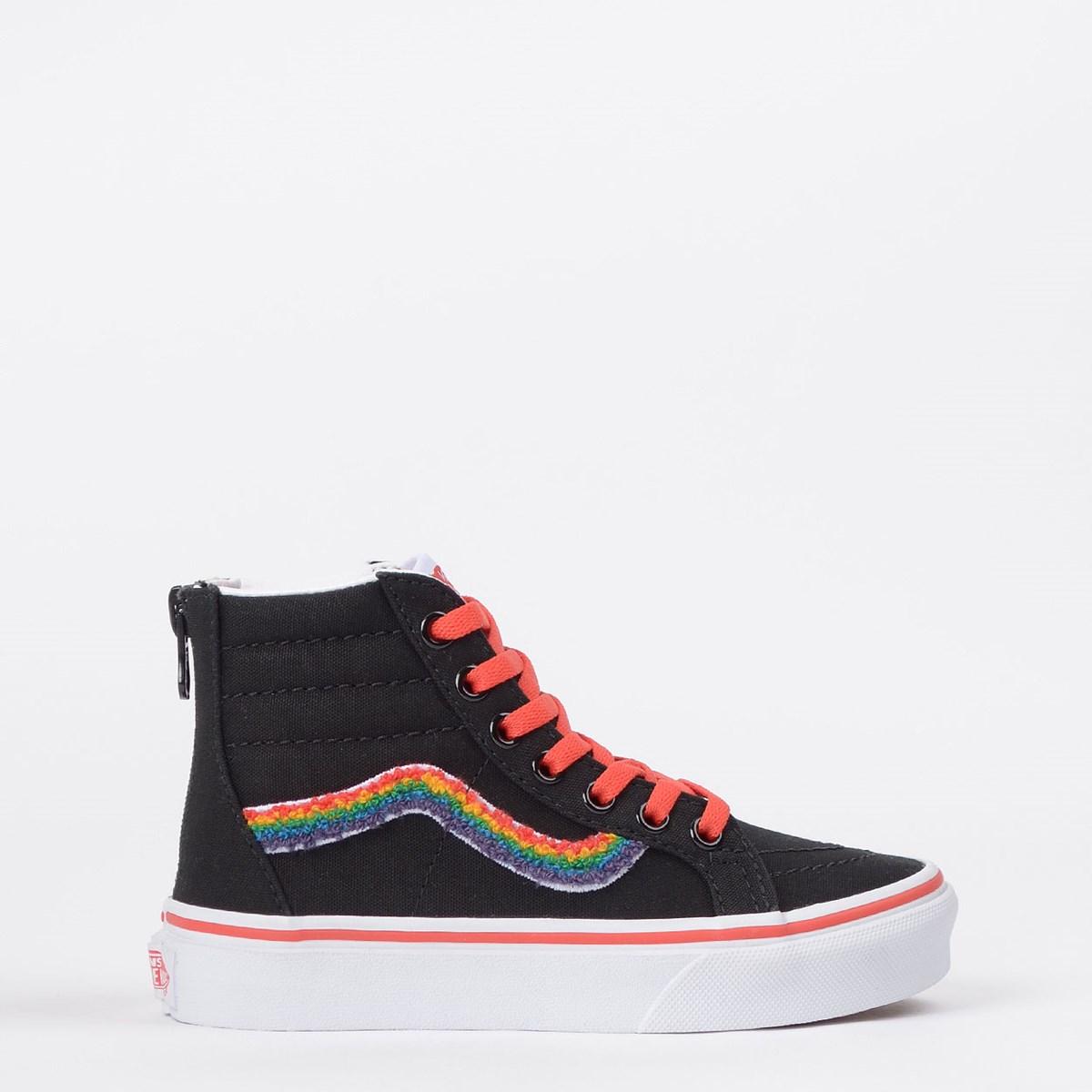 Tênis Vans Kids Sk8 Hi Zip Chenille Rainbow VN0A4BUXWKT