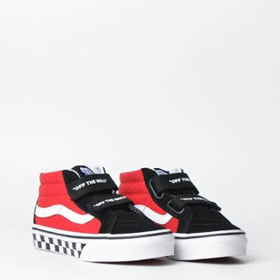 Tênis Vans Kids Sk8 Mid Reissue V Logo Pop Black True White VN0A346YVI7P