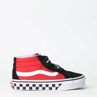 Tênis Vans Kids Sk8 Mid Reissue V Logo Pop Black True White VN0A346YVI7P