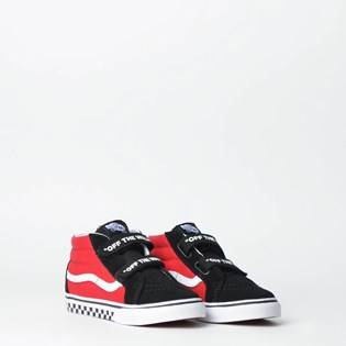 Tênis Vans Kids Sk8 Mid Reissue V Logo Pop Black True White VN0A348JVI7P