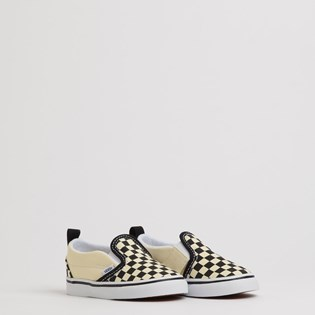 Tênis Vans Kids Slip On V Checkerboard Black White VN0A34885GX