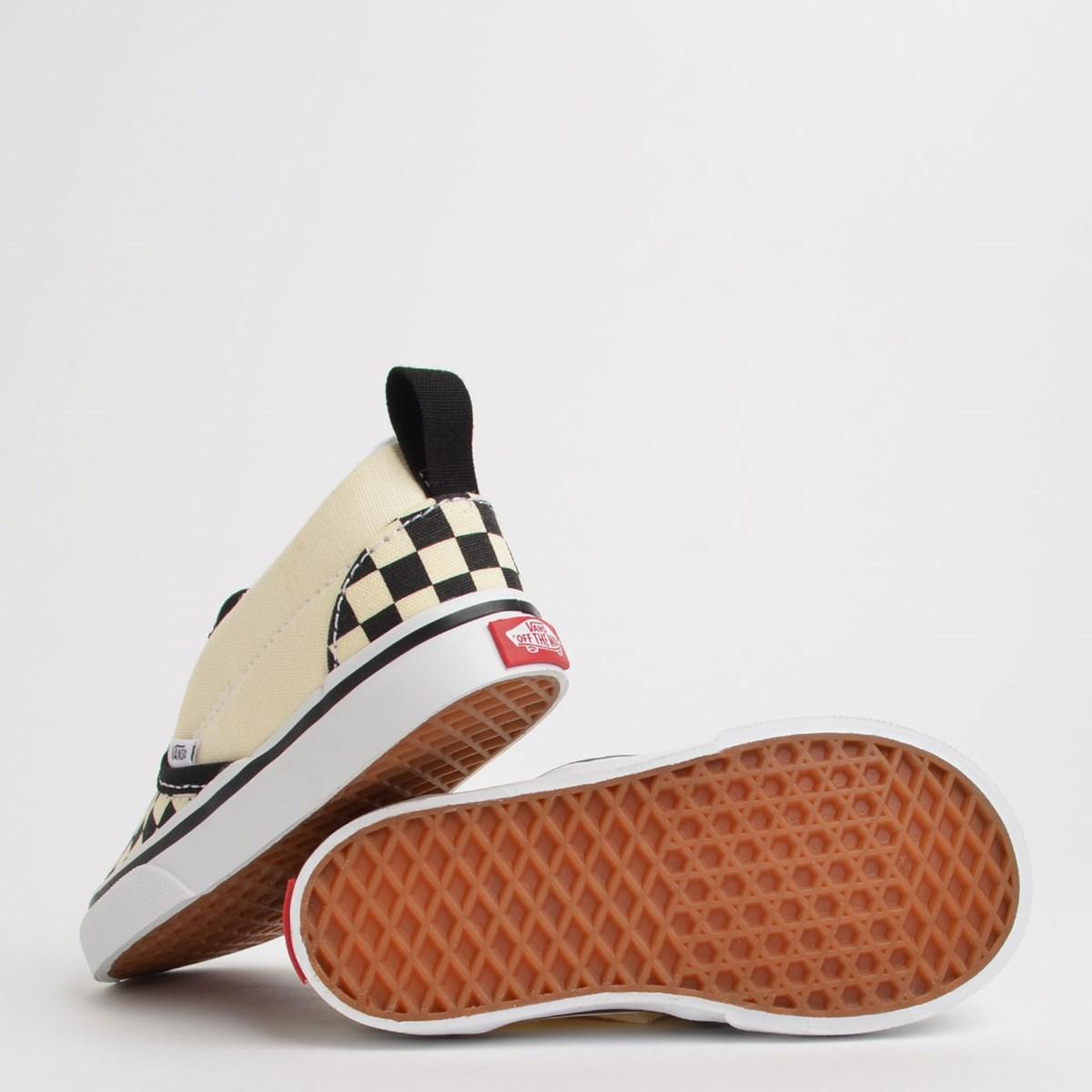 Tênis Vans Kids Slip On V Checkerboard Black White VN0A34885GX