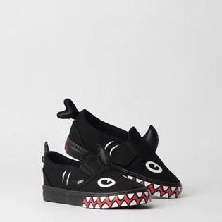 Tênis Vans Kids Slip On V Shark Week Phin Black VN0A3488V4H