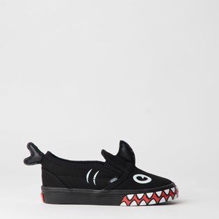 Tênis Vans Kids Slip On V Shark Week Phin Black VN0A3488V4H