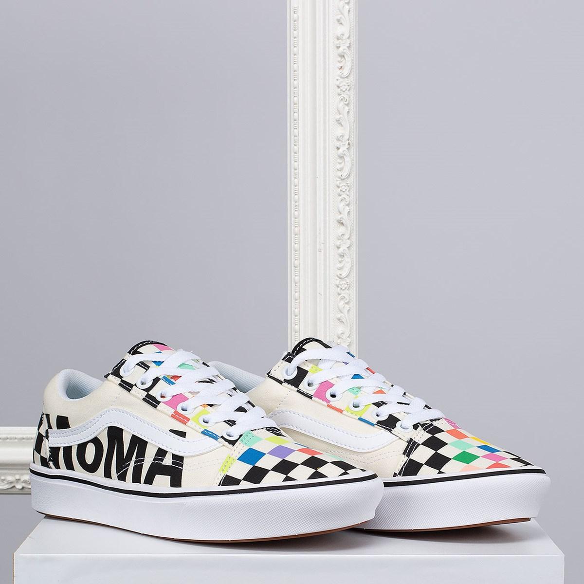 Tênis Vans MoMA Old Skool Comfycush Brand Checkerboard VN0A3WMA1PJ